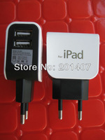 Brand New  2A EU US Plug micro dual USB Port Power Adapter Charger Eu For Pad 2 /3 IPhone 4 4s Free shipping