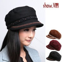 Show . v hat female 13 new arrival autumn and winter cap cadet cap truck cap truck cap women's hat