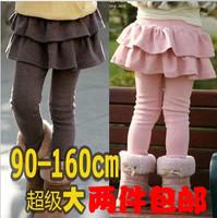 2013 female child legging autumn and winter child basic skirt pants plus velvet thickening