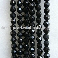beautiful black handmade faceted crystal