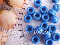 500pc 6*9mm blue  DIY pony beads  plastic beads