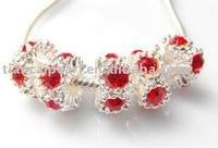 charm crystal alloy beads fit bracelet necklace