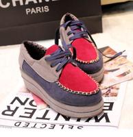 2013new  vintage round toe  elegant women's shoes platform lacing sweet platform single shoes women