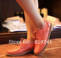 Fashion vintage cutout women's shoes fashion preppy style platform wedges platform lacing single shoes