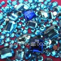 Free ship!!! 12000pcs 1.5-10mm mixed cell phone decoration kawaii oval Crystal Flat Back Rhinestone
