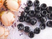 500pc 6*9mm black color   DIY pony beads  freeshipping