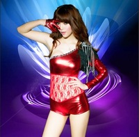Sexy lace collar female ds costume modern stool jazz dance