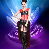 Ds costume sexy lace collar fashion female singer elegant coverall