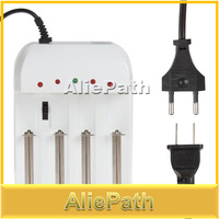 Universal Gradually Adjustable 4 Battery Charger with US / UK / EU AC Plug for 16340 18650 25500 26650 2670 Rechargeable Battery