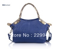 2013 new big header layer of leather handbags shoulder star with money leather shopping bag