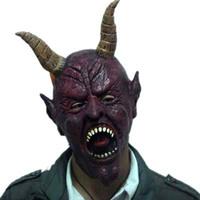 Free Shipping R22 ball masks halloween mask cow devil mask horn 140g