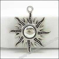 70pcs Vintage Charms Sun  Pendant Tibetan silver Zinc Alloy Fit Bracelet Necklace DIY Metal Jewelry Findings