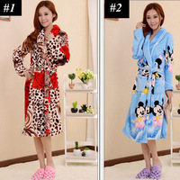 New 2013 Luxury Long Robe Sleepwear Warm Pajamas for Women Nightgown Bathrobe Pyjamas Dressing Gown Nightdress Winter A0237