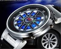 Free Shipping Luxury Brand TVG 100% Guaranteed Quality Genuine Black Cool Car Design Dial Blue LED Binary Tag Men's Sports Watch