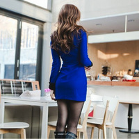 Stella free shipping 2013 trend women's ol slim one-piece dress elegant work wear ladies fashion autumn all-match basic skirt