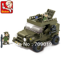 Christmas gift enlighten bricks children toys B0299 DIY educational blocks Army Jeep SLUBAN building block sets free Shipping