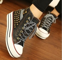 2013 high canvas shoes casual shoes platform shoes