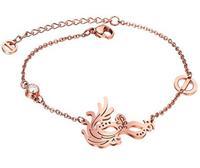 New designer acessorios Stainless Steel Bracelet 18k Gold plated mask Elegant Chain  bracelet color gold accessories female