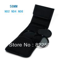 58MM 58 Neutral Density ND2 ND4 ND8 lens Filter Kit set ND 2 4 8 + cloth bag case