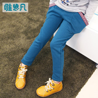 Children's clothing female child autumn 2013 trousers child fleece trousers child autumn casual pants