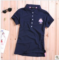 Free shipping 2013 spring summer plus size clothing polo shirt short-sleeve fashion t turn-down collar t-shirt