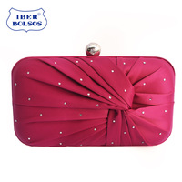 Luxury diamond 2013 women's pleated evening bag day clutch evening bag bride clutch ladies bag small bag