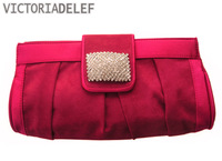 Luxury fashion 2013 diamond-studded evening bag day clutch bag pleated bridal bag sistance bags women's handbag