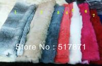 Luxurious Genuine Rex Rabbit Fur High Quality Dyeing Women's Shawls Rabbit Pelts Leather Hide Fur Pompom Cloth Fabric Wholesale
