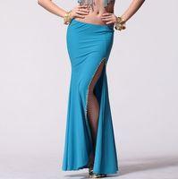 Belly dance skirt slim hip skirt of sidepiece beaded split skirt placketing skirt sexy dance dress