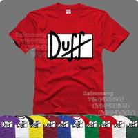Dj t-shirt cartoon series - duff beer 100% cotton short-sleeve multicolor
