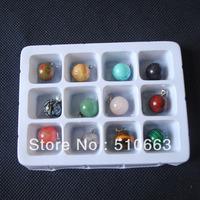 (1 Box = 12 Pieces),Stone Pendant, Semi Precious Stone Pendant,Stone Collection,Round Shape,Size: 14mm,Free Shipping