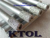 Slot Top!5pcs 8mm Flat-Bottom Emery Diamond CNC Bit Milling Slotting Cutters for CNC stone/marble engraver cutting machine tool