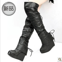 2013 winter ultra long tube sweet over-the-knee wedges boots high-leg boots