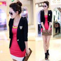 Free shipping Etam suit 2013 autumn thin women's short blazer jacket outerwear female slim