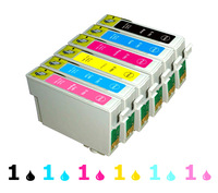 Free Shipping ink cartridges for Epson Stylus Photo T5  R270/290/390 RX590/610/690 TX659/720WD/800FW/820FWD 82N T0821 -  T0826