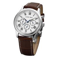 Langbao Genuine Leather Vintage Quartz Watch Waterproof Mens Business Chronograph Watch