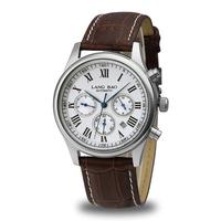 Langbao Brand Mens Waterproof Genuine Leather Calendar Strap Watch Business Automatic Men Watch