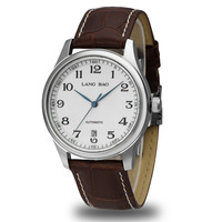 Langbao Mens Fully-automatic Mechanical Business Wristwatches Strap Male Table Commercial Watch