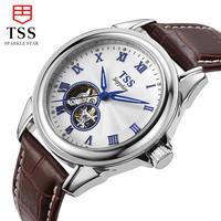 TSS Male Strap Full Mechanical Mens Watch Waterproof Luminous Cutout Fashionable Casual Commercial Classic Automatic Watch