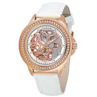 Elegant Noble Todga Cutout Mechanical Women Watch Fashion Fully-automatic Strap Lovers Wristwatches 5ATM Trend 18K Rose Gold