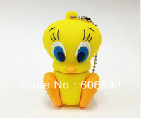 Retail genuine 2G/4G/8G/16G/32G Tweety Bird style flash drive silicone usb flash drive Free shipping
