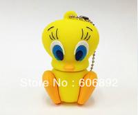 Retail genuine 2G/4G/8G/16G/32G Tweety Bird style flash drive silicone usb flash drive Free shipping