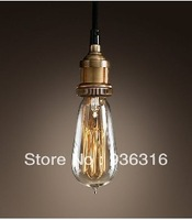 Edison Copper bulb chandelier around creative retro clothing Antique Chandelier Bar Restaurant T64 bulb+100cm wire+Free shipping
