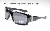High quality new style BIG TACO black frame blue Polarized lens men sunglasses 9 colour fashion sport snglasses