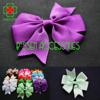 New design (60 pieces/lot) 3.2 inch swallow-tailed grosgrain ribbon bows,wholesale hair bow for baby girls(without clip)