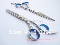 "Hot Sales: 6.0"" professional Barber Scissors,Hairdressing  razor+ thinning scissors,Hair Cutting Shears, Beauty Hair Shears 440C"