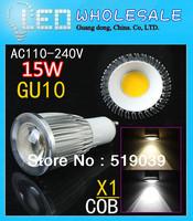 1X Dimmable GU10/E27/E14/B22/MR16 COB SMD 9W 12W 15W LED Spotlight Bulb Pure/Warm/Cold White AC110V-240V 120 degree angle