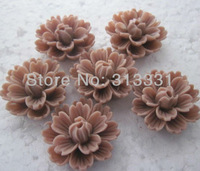 retro flat back cabochon free shipping 25mm resin flower  2013 popular lucite beads for diy vintage jewelry