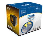 Pccooler Yellow sea plus cpu heatsink s90d double fan double heatpipe cpu fan