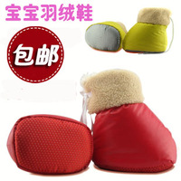 Baby shoes baby warm down shoes slip-resistant handmade newborn cotton-padded shoes toddler shoes soft outsole winter